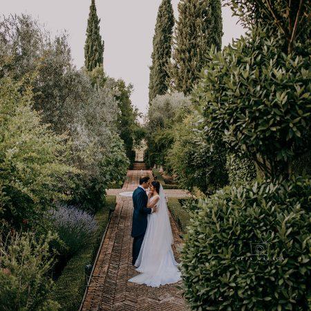 Boda en Palacio de Galiana, Toledo: una romántica historia de amor al aire libre