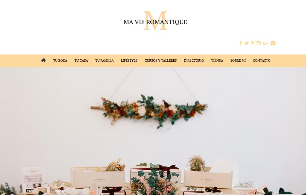 Ma Vie Romantique Blog de bodas