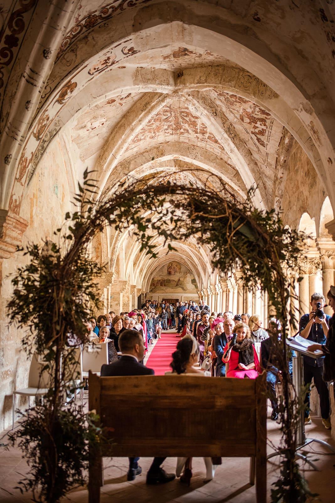 Boda de otoño en el Monasterio de Valbuena Pepa Malaga Fotografia