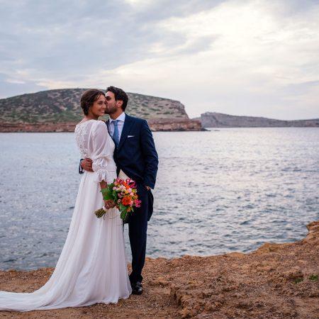 María y Pablo: boda en Ibiza con una pareja de altos vuelos